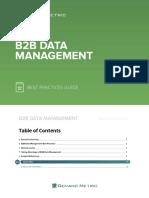 b2b Data Management Best Practices Guide