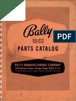 Bally 1963 Parts Catalog 100
