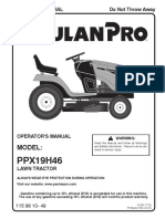 PPOO201 Poulan Pro PPX19H46 Operators Manual