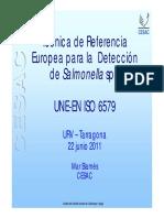 Técnica de referencia UNE para detección de Salmonella