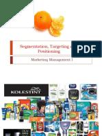 Segmentation,Targeting and Positioning