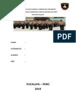 Caratula de  la PNP