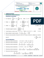 Practica 2do Parcial Algebra MAT 100 JJ_222-1