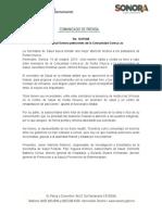16-10-19 Atiende Salud Sonora peticiones de la Comunidad Comca´ac
