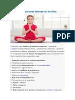 Beneficios de La Práctica Del Yoga Con Los Niños de educacion primaria