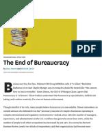 Yes, yu can Eliminate Bureaucracy