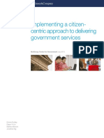 Implementing a Citizen Centric Approach to Delivering Government Services