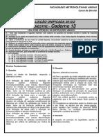2.Caderno13 - 2013.2 - 3§ Semestre