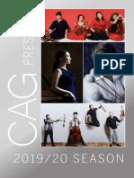 CAG 2019-20 Season Brochure