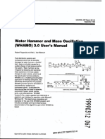 USACE - Water Hammer and Mass Oscillation (WHAMO) Ver. 3.0 - User