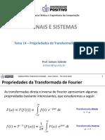 Aula SS - Tema 14 - Propriedades Da Transformada de Fourier
