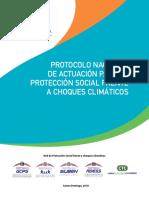 PROTOCOLO NACIONAL DE ACTUACIÓN PARA LA PROTECCIÓN SOCIAL FRENTE A CHOQUES CLIMÁTICOS
