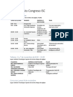 Programa 5to Congreso ISC