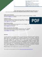 A Influência Da Cultura Organizacional No Processo de Inovação o Caso Da Águia Sistemas de Armazenagem Em Ponta Grossa Paraná