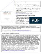 Characteristics of Reflective Practitioners-Korthagen1995
