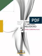 Cordovilla, Ángel - Cristianismo y Hecho Religioso - Universidad Pontificia Comillas 2013