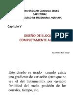 IV. Diseño de Bloques Completos Al Azar