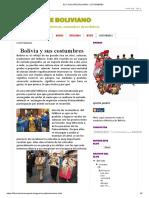 El Folklore Boliviano_ Costumbres