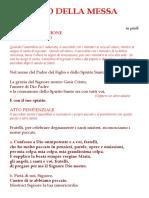 Libretto Rito Della Messa