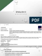English II 2019-2 Urgencia Vespertino