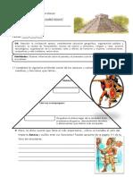 Guia de Aprendizaje 4TO BASICO Aztecas Sociedad Economia