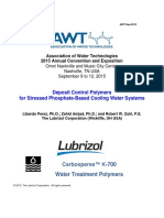 Deposit Control Polymers for Stressed Phosphate-Based Cooling Water Systems