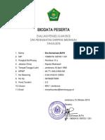 Biodata Peserta Bos 2019