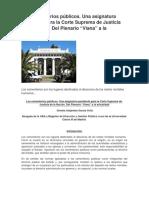 """Los Cementerios Públicos. Una Asignatura Pendiente Para La Corte Suprema de Justicia de La Nación. Del Plenario """"Viana"""" a La Actualidad (1)"""