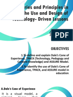 Dale cone of experiences, assure model and tpack