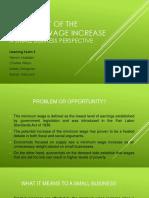 Presentation_The Impact of Minimum Wage Increase