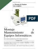 Mantenimiento y Montaje de Equipos Informc3a1ticos Texto Completo