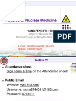 Physics of Nuclear Medicine