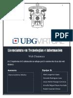Act.1 Arquitectura de la información un enfoque para la construcción de un sitio web dinámica