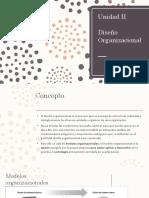 II. Diseño Organizacional