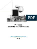 Proposal Jasa Maintenance CCTV