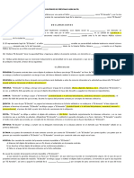 Contrato de Prèstamo Mercantil