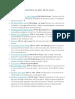 Latin America Famous Authors and Representative Texts