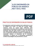 Practicas de Enfermería en Salud Pública en AMERICA LATINA-PERU