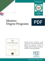 Masters Degree Programs