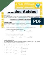 Ficha Oxidos Acidos Para Sexto de Primaria