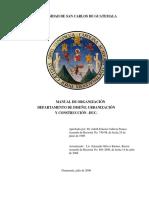 Manual de Organización Departamento de Diseño Urbanización