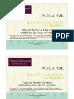 Cartas Inauguración Café