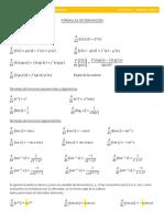 Formulas de derivación e integración