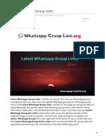 Whatsappgrouplink.org-Latest Whatsapp Group Links