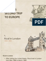Rizals Second Trip to Europe