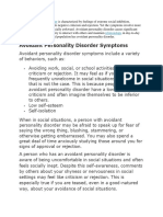 Avoidance Personality Disorder #1