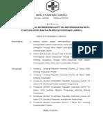9.1.1.1 SK Kewajiban Tenaga Klinis Berperan Aktif Meningkatkan Mutu Klinis Dan Keselamatan Pasien