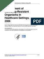 Multi Drug Resistant Organs-guidelines