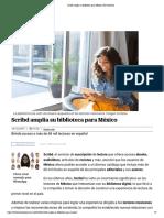 Scribd amplía su biblioteca para México _ El Universal
