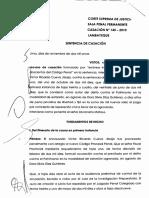 Casación 0145-2010-Lambayeque (Diferencia Entre Los Delitos de Robo y Extorsión)